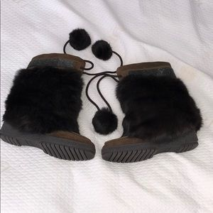 Coach brown suede & Angora fur Maryann boots!